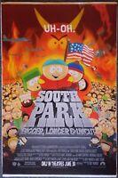 """SOUTH PARK: Bigger, Longer & Uncut"" ORIGINAL 1999 1SH Movie Poster 27"" x 40"" VG"