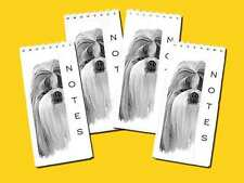 Shih Tzu Dog Pack of 4, Small Slim Note Pads Jotters Gift Set