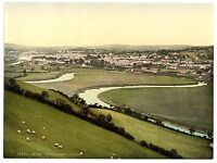 2 Victorian Views Pictures Carmarthen River Towy Caerfyrddin Old Photos Posters