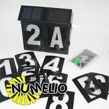 2 NUMERO DE MAISON LED NUMELIO ALLUMAGE AUTOMATIQUE-TOUT NUMERO- PANNEAU SOLAIRE