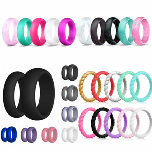 Silicone Wedding Ring Engagement Rings Athletic Jewelry Women Men Gift Jewelery