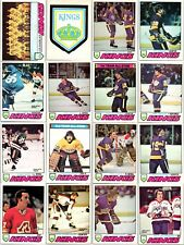 1977-78 O-PEE-CHEE LOS ANGELES KINGS 16 Vintage Cards Team Lot 1 Rare Hutchinson