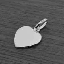 Genuine 925 Sterling Silver Flat Heart Pendant (without Chain/Necklace)