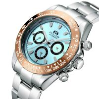 PAULAREIS Homage Automatic Men's SelfWind Mechanical Gold StainlessWatch Glacier