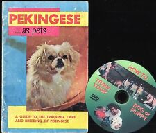 Vintage PEKINGESE Dog Owner Handbook + FREE BONUS Training  DVD
