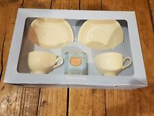 Wedgewood Edme Cream White Earthenware Tea Set for Two with Tea Caddy Gift BNIB