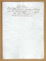Antico documento manoscritto 1806 - Cedolone dell'Esatto e Speso in Piacenza