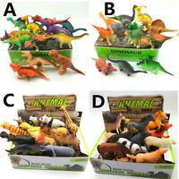 AU 12pcs Dinosaur Model Toy Plastic Animal Figures Childrens Kids Boys Gift Toys