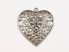 Ciondoli di bigiotteria a cuore in argento