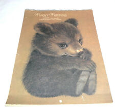 1977 Hallmark Engagement Calendar with 12 Full Page Wild Animals by Katie Coyote