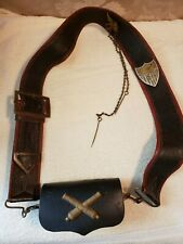 War of 1812 Ft. McHenry Artillery Cartridge Box with Shoulder Strap accoutrement