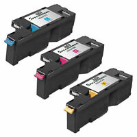 3PK COLOR Toner for Dell CMY Laser Cartridge 1250c C1760nw C1765nf C1765nfw 1350