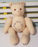 HANDMADE? EMBROIDERED TEDDY BEAR PLUSH TOY! SOFT TOY ABOUT 33CM SEATED KIDS TOY!