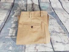 Brooks Brothers Beige Advantage Chino Elliot Pleated Cotton Khaki Pants 38X34