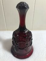 Vintage AVON Cape Cod Ruby Red Hostess Bell 6.75