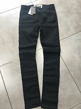 Mens Trousers Chinos Stretch Super Skinny Black Jeans 30/34 EU 76/86