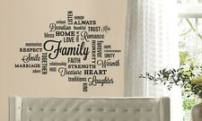 FAMILYWORDS COLLAGE Vinyl Lettering Wall Art Quote Sticky Decals Sticker Decor