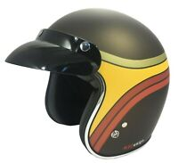 VIPER RS-05 RUST CLASSIC OPEN FACE SCOOTER MOTORCYCLE MOD 70'S RETRO HELMET
