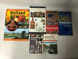 6x Amsterdam Travel Books City Pack Map & Guide Dutch for Travellers Rough Guide