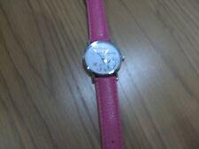 ladies dark pink strap costume  watch