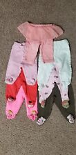 Lot of 7 Baby girl pants (6 footed pants)