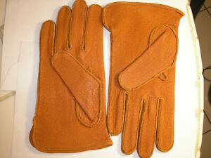 British Men's Driver, Dress Brown Pigskin Leather Gloves, England