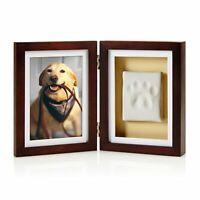 Pearhead Dog or Cat Paw Print Pet Keepsake Photo Frame With Clay Imprint Kit,