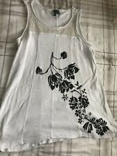 Hand painted, White top, US size XS, Vest top, Second Hand