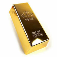 1kg Creative Gold Bar Bullion Door Stop Heavy Brick Paperweight BO