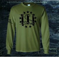 THREE PERCENTER 3% 2ND AMENDMENT FIREARMS MOLON LABE LONG SLEEVE T-SHIRT