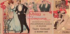 HOHENSTEIN - BOLOGNA 1908  Veglia  Beneficenza soc. M.S. fra camerieri e cuochi