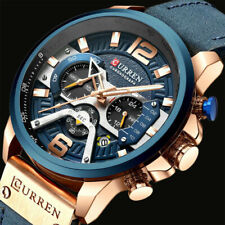 CURREN Luxury Analog Leather Sport Men's Military Army Wrist Watch XMAS Gift