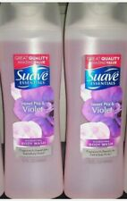 Suave Essentials Body Wash, Sweet Pea and Violet 15 oz (Pack of 2)