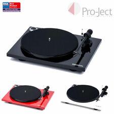 Pro-Ject Essential III Phono Turntable Ortofon OM10 cartridge Black white Sonos