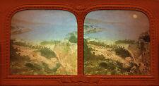 Monaco Panorama Vintage stereo Diorama Tissue albumen ca 1860
