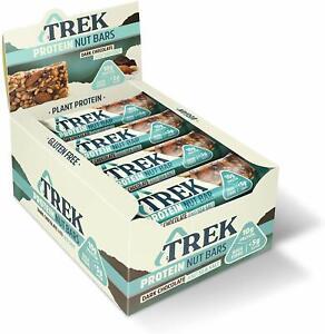 TREK High Protein Low Sugar Nut Bar Dark Chocolate & Sea Salt - 16 x 40g