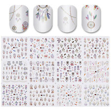 Water Decal 12 Patterns Big Sheet Dreamcatcher Nail Transfer Sticker Manicure