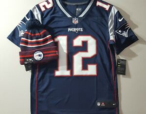 BUNDLE Tom Brady Pats New Nike Vapor Untouchable Lmtd Jrsy Men's Sz M & Knit Hat