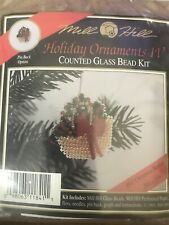 Mill Hill Beaded Cross Stitch Kit Holiday Ornaments IV Christmas Basket H41