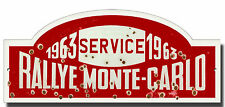 RALLYE MONTE-CARLO METAL SIGN,FAMOUS RALLIES,VINTAGE RALLY NUMBER PLATES 1963