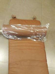 matelas pour chaise longue Bauhaus cuir tabac