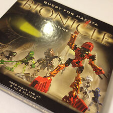Bionicle Adventure Game /Quest for Makuta 2001 Complete Excellent Lego /Rose Art