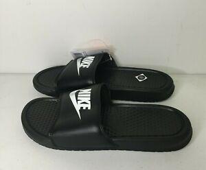 Nike Benassi JDI 343880-090 Black White Slide Sandals Men's Size 9