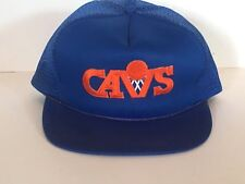 Vtg Cleveland Cavs Trucker Hat Cap Snapback Patch