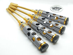 RC CAR 4Pcs Metric Nut Socket Screw Driver Tool Set - 4mm 5.5mm 7mm 8mm -