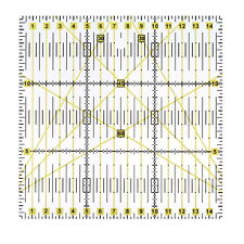 15*15cm Acrylic Quilt Quilting Grid Ruler Patchwork Tailor Sewing Cutting Ruler