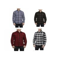 Jachs Men's Brawny Flannel Work Shirt Cotton Button-Down VARIETY Size&Color