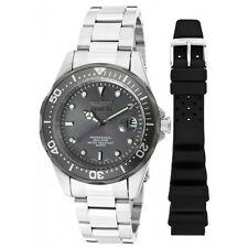 Invicta Men's 38mm Pro Diver Charcoal Grey Dial Stainless Steel Watch 12812X