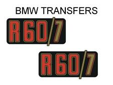 BMW Motorcycle R60/7 Side Panel Transfers and Decals Sold as a Pair