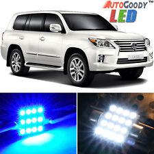 22 x Premium Blue LED Lights Interior Package Kit for 08-15 Lexus LX570 + Tool